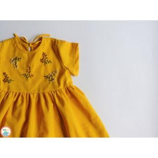 Đầm linen thêu tay Baby Doll