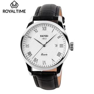 [Tặng vòng tay] Đồng hồ nam SKMEI SK9058.02G fullbox dây da chống nước cao cấp