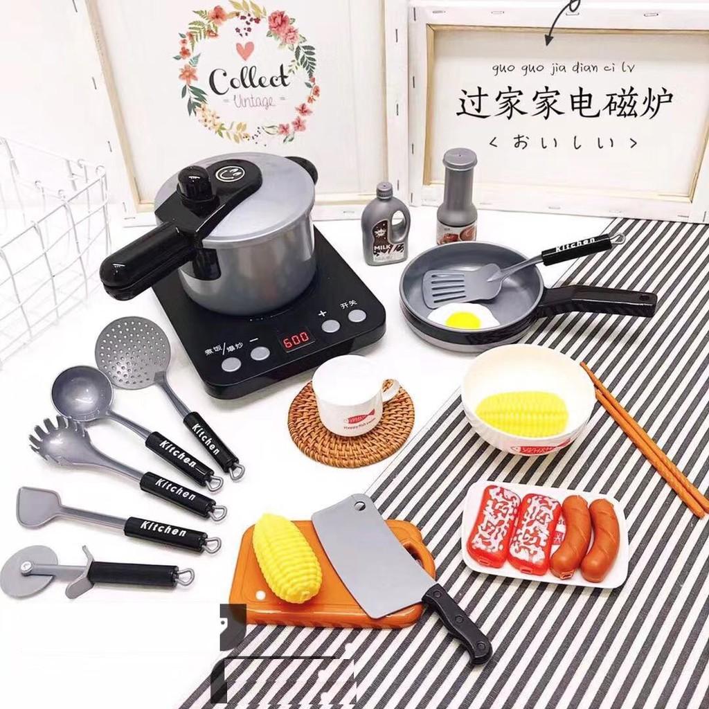 Bộ đồ chơi nhà bếp cho bé - Set đồ chơi 36 món cho bé gái - đồ chơi hà bếp an toàn cho trẻ nhỏ