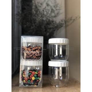 [ LOCK&LOCK CHÍNH HÃNG ] Set 2 hộp nhựa Interlock 280ml của Lock&Lock – dùng đựng đồ khô, thực phẩm rất tiện lợI