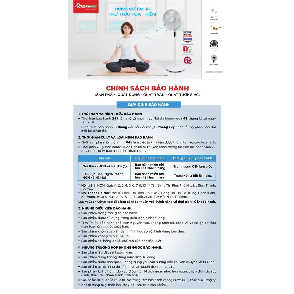 [Mã KTGSEL giảm 10% đơn từ 1TR] Quạt đứng AC ASF02A165 Made in Thailand, công suất 55W, remote điều khiển