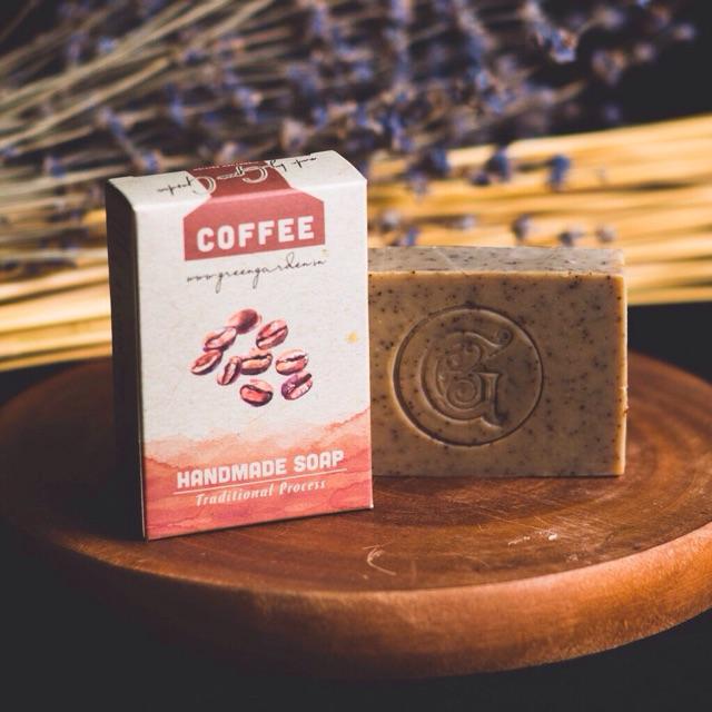 (2022) XÀ PHÒNG CÀ PHÊ GREEN GARDEN Tẩy Tế Bào Chết (GREEN GARDEN COFFEE SOAP)