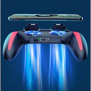 Tay cầm chơi game H10 với 2 quạt siêu mát PUBG/FF/ROS Double Fan tích pin 5000mAh
