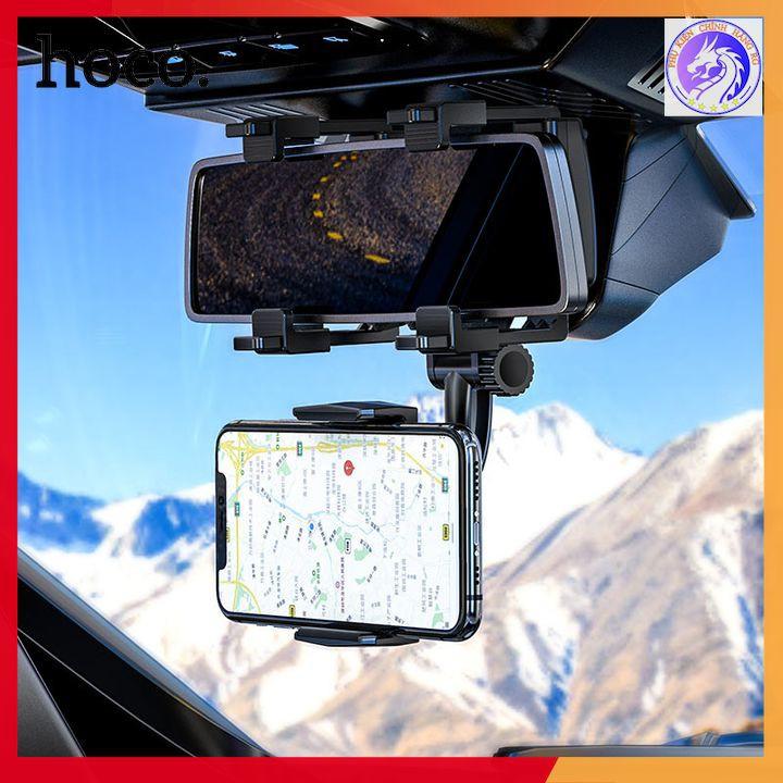 Gía Đỡ Điện Thoại Gương Chiếu Hậu Trong Xe Hơi Nhựa ABS Hoco CA70 - Siêu Chắc Chắn
