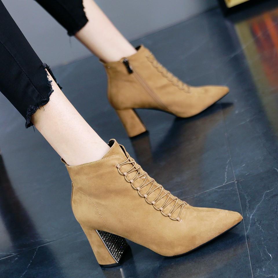 giày boot cao gót thời trang dành cho nữ