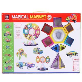 Đồ chơi Xếp hình Nam Châm Trí Tuệ Thương hiệu Magical Magnet 71 chi tiết (pcs) cho trẻ từ 3+ nhựa ABS chống va đập