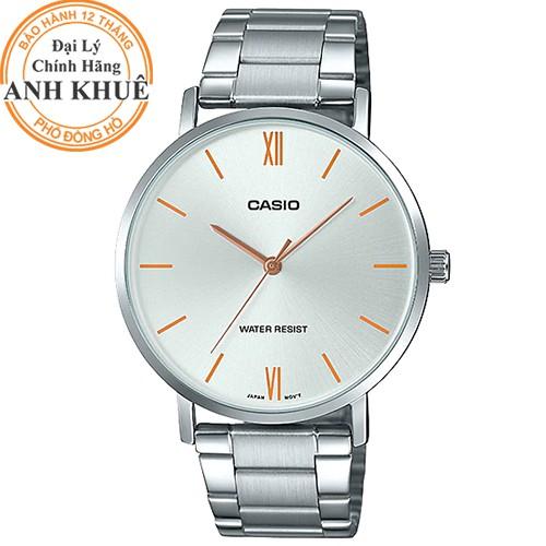 Đồng hồ nam dây kim loại Casio Anh Khuê MTP-VT01D-7BUDF