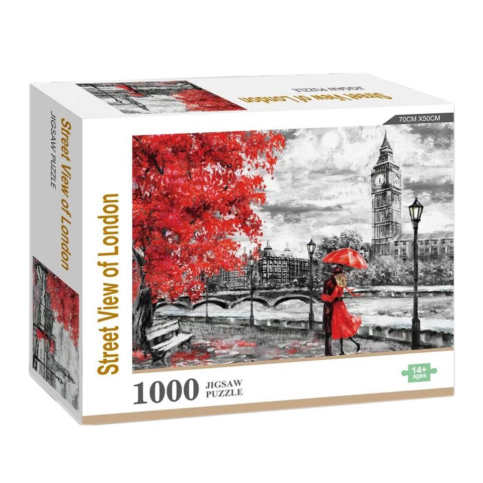 Bộ đồ chơi xếp hình gồm 1000 mảnh hình London chất lượng cao