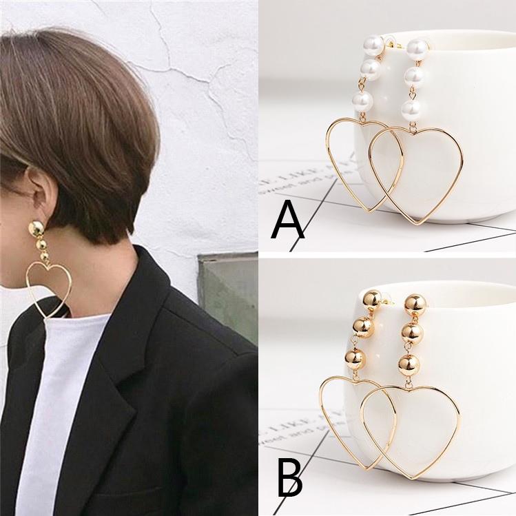 Bông tai dài với mặt dây chuyền ngọc trai hình trái tim cho phụ nữ cách Hàn Quốc Dễ thương Hoa tai - 21856522 , 4504939045 , 322_4504939045 , 14960 , Bong-tai-dai-voi-mat-day-chuyen-ngoc-trai-hinh-trai-tim-cho-phu-nu-cach-Han-Quoc-De-thuong-Hoa-tai-322_4504939045 , shopee.vn , Bông tai dài với mặt dây chuyền ngọc trai hình trái tim cho phụ nữ cách H