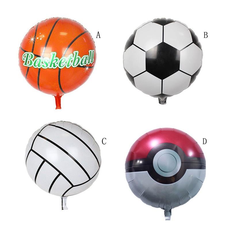 ღBLIღ 45cm Ball Shape Football Basketball Volleyball Inflatable Ballon Kids Gifts [FS]