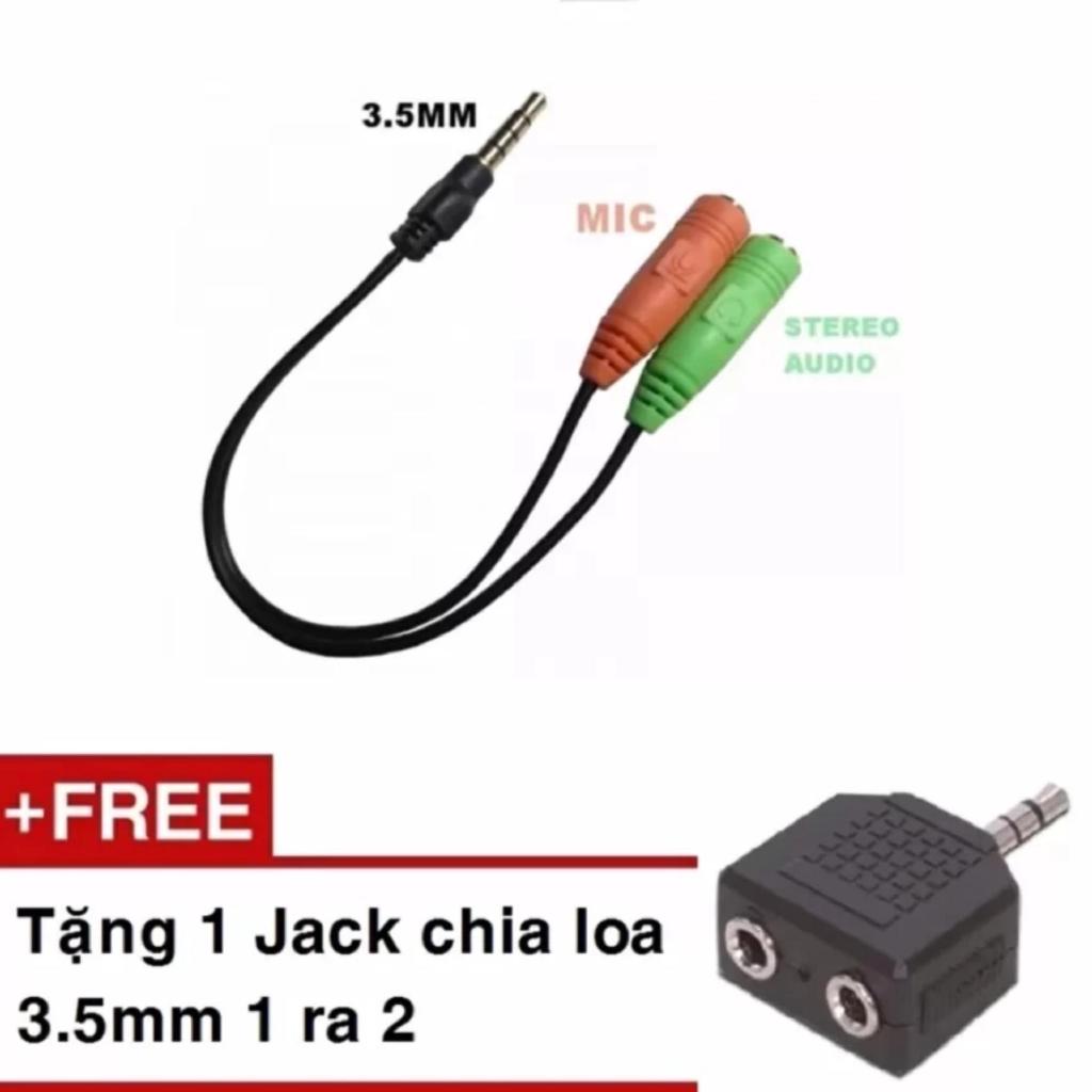 Cáp chia Audio 3.5 ra Mic và Loa tặng kèm 1 Jack loa 3.5 1 ra 2 -DC1014+DC1068 - 2582113 , 1318424279 , 322_1318424279 , 35000 , Cap-chia-Audio-3.5-ra-Mic-va-Loa-tang-kem-1-Jack-loa-3.5-1-ra-2-DC1014DC1068-322_1318424279 , shopee.vn , Cáp chia Audio 3.5 ra Mic và Loa tặng kèm 1 Jack loa 3.5 1 ra 2 -DC1014+DC1068