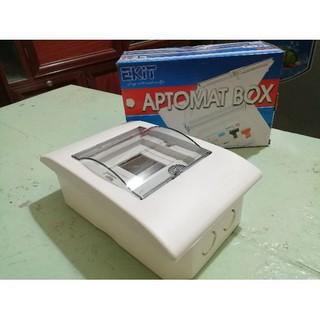 Tủ điện âm tường 2-4 AT Ekit chứa aptomat