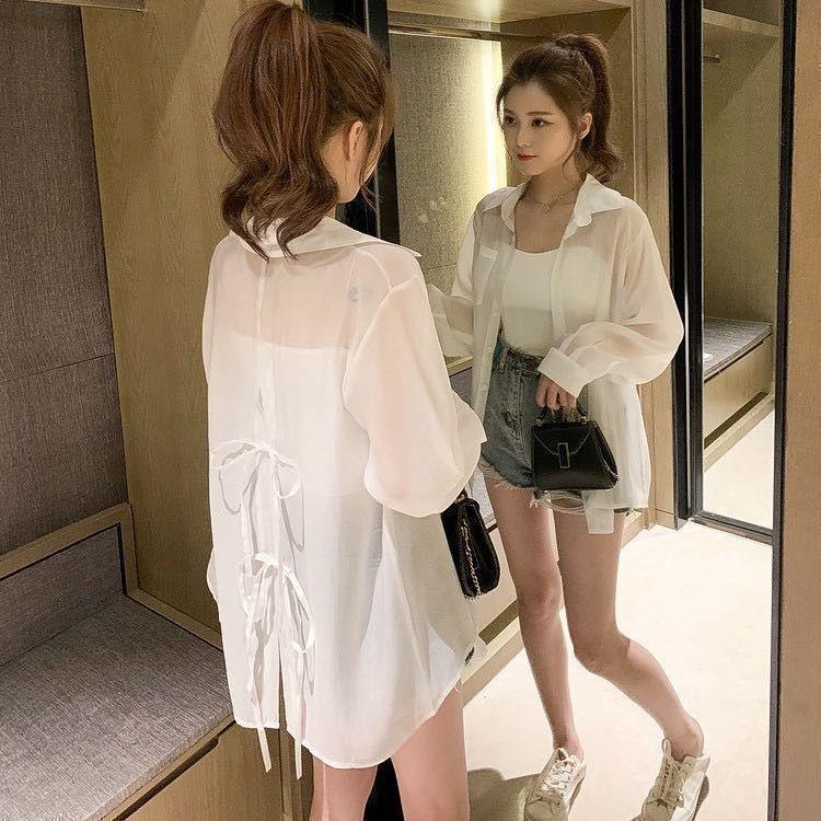Áo Khoác Cardigan Vải Voan Mỏng Dáng Rộng Phong Cách Phương Tây Thời Trang Mùa Hè Dành Cho Nữ 2021