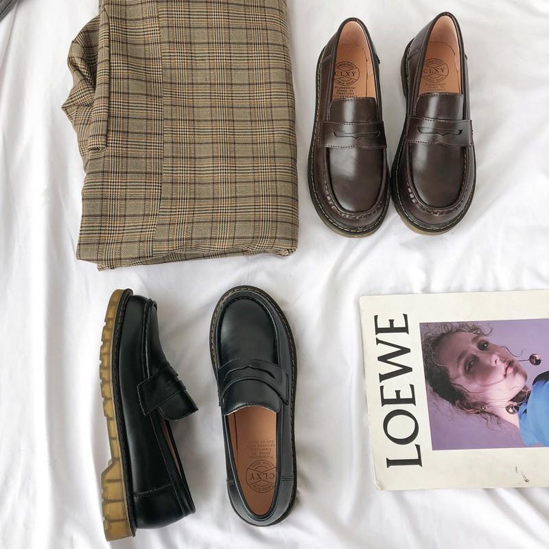 (Sẵn) Giày lười loafer Harajuku