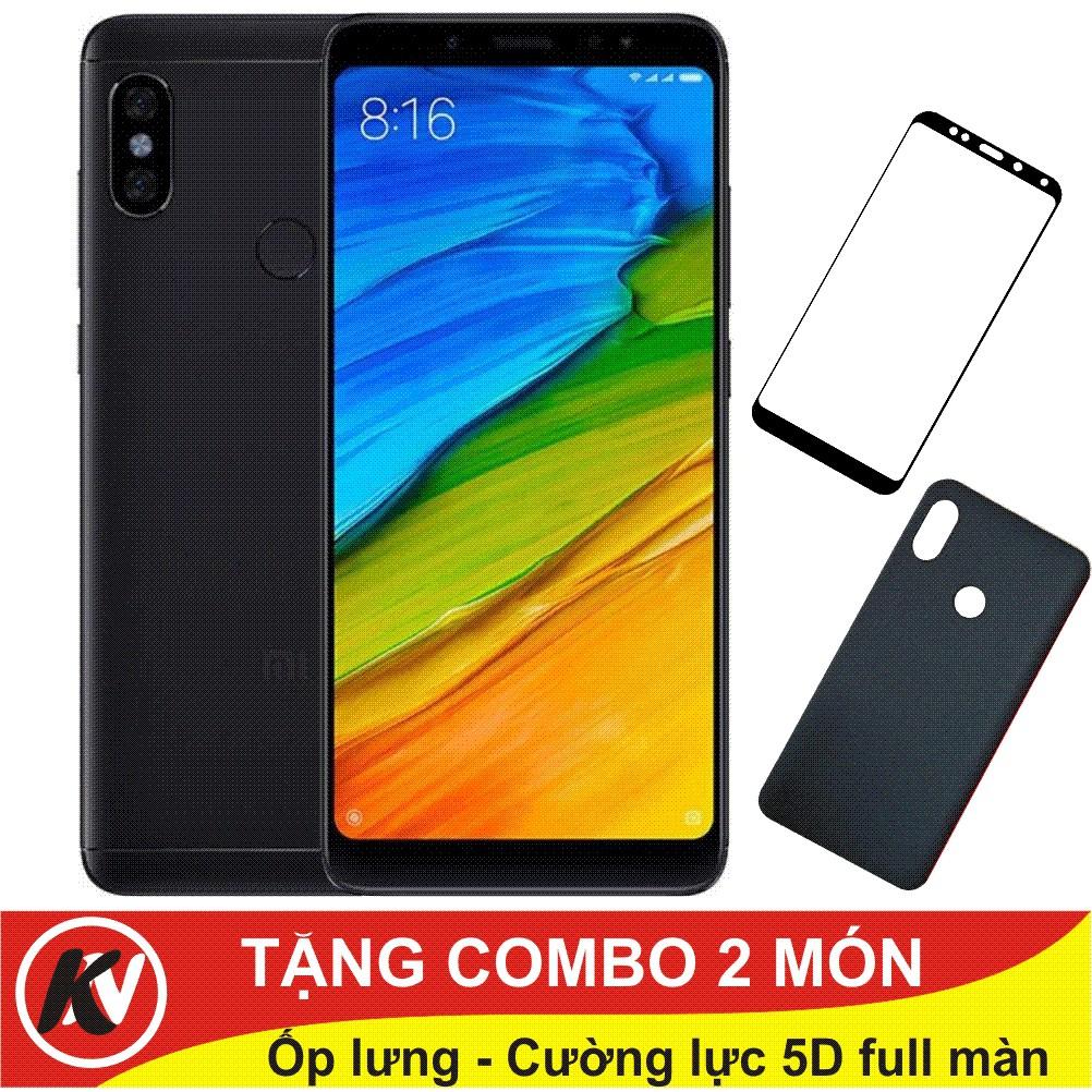 Combo Điện thoại Xiaomi Redmi Note 5 Pro 32GB Ram 3GB + Ốp lưng + Cường lực full màn 5D - Hàng Nhập khẩu