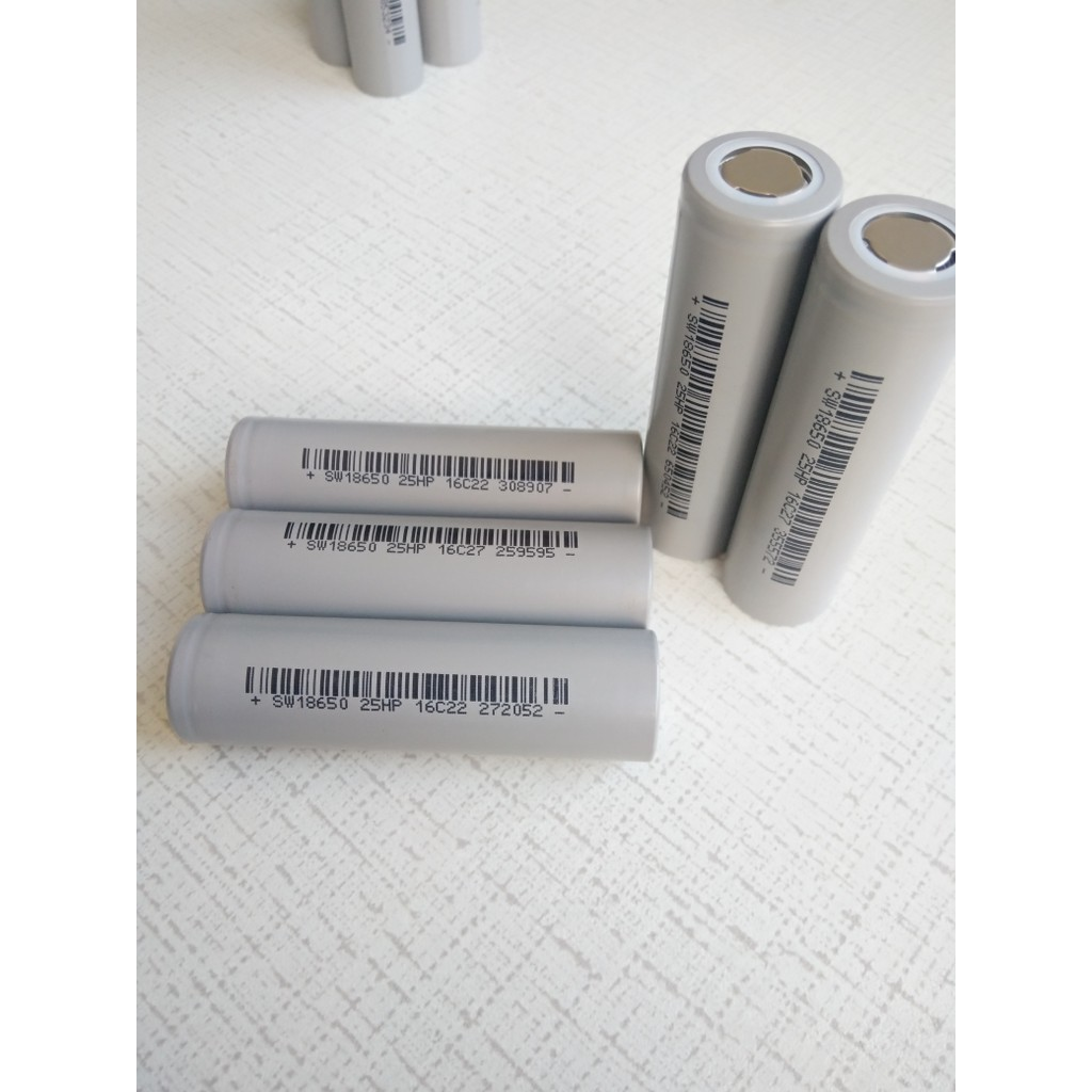 Pin sinowatt 2500mah 5C (10A) 18650 chuyển dùng cho khoan, vít chạy pin, sạc dự phòng