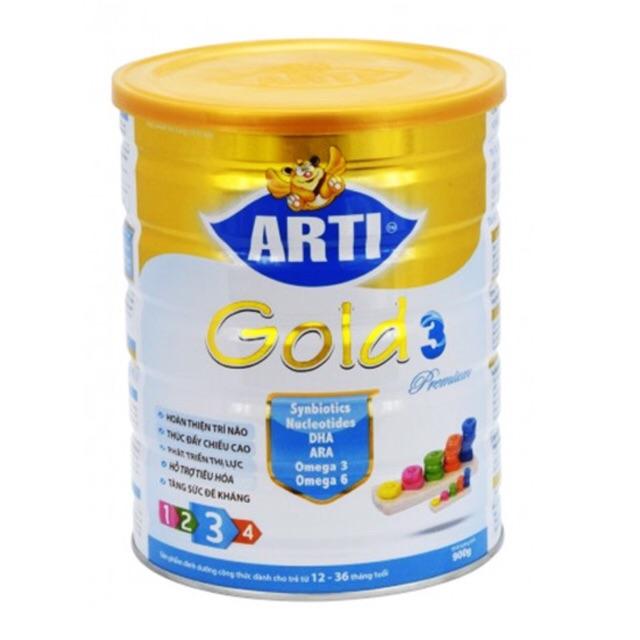 Sữa arti gold 3 premium hộp 900g date:2020