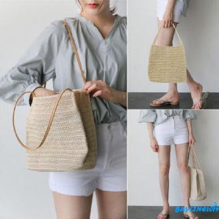 ❀ℳay-Women Girls Straw Crossbody Beach Summer Bags