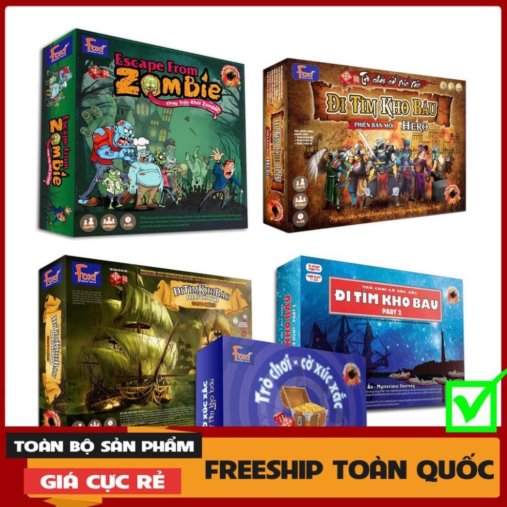 [FREESHIP-EXTRA] Board game-Đi tìm kho báu Foxi-đồ chơi gia đình-tương tác cao-tư duy thông minh-giao tiếp.