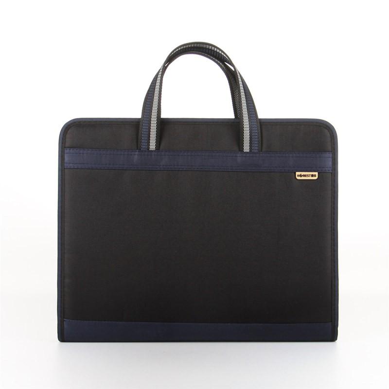 ความจุขนาดใหญ่กระเป๋าเอกสารแบบพกพาถุงซิปถุงผ้าใบข้อมูลไฟล์แพคเกจธุรกิจกระเป๋าเอก