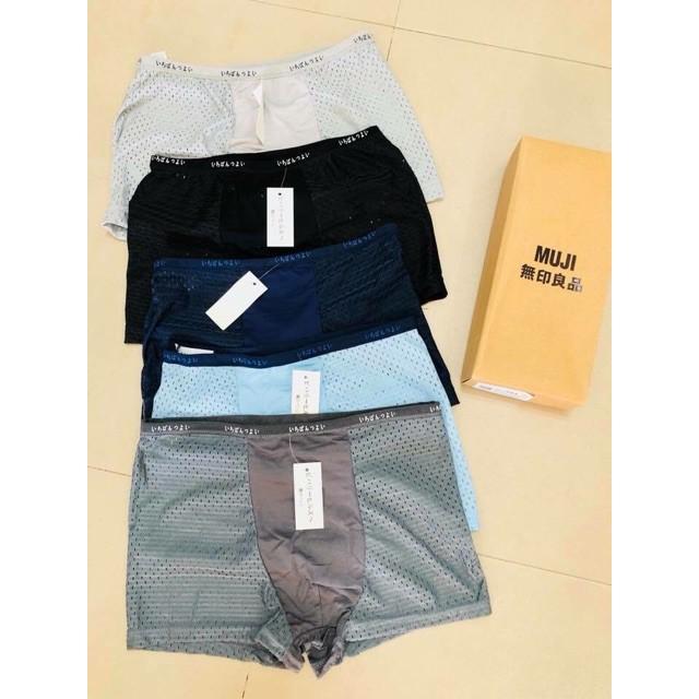 XẢ SỐC HỘP 5 chiếc quần sịp thông hơi  Xuất Nhật(loại đùi)