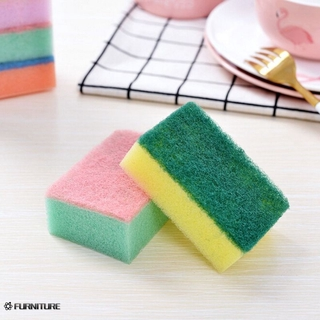 Household Dishwasher 10 pieces Sponges Cleaning Universal Sponge Brush Set Kitchen Cleaning Tools Wash FURN