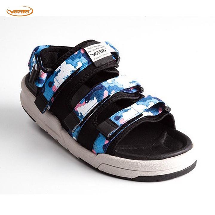 Giày Sandal 2 Quai Ngang Vento 1001 Camo Xanh Dƀ