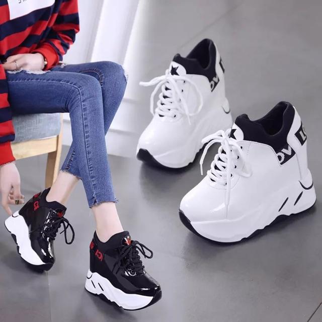 [ Hàng order 5 ngày] giày thể thao đế độn nữ 12cm
