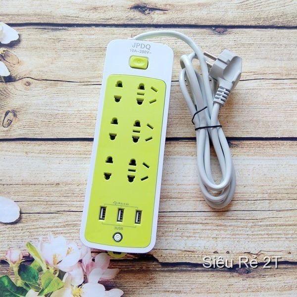 [FREESHIP] Ổ cắm điện đa năng chống giật , Ổ cắm điện thông minh kèm cổng sạc USB (6 phích cắm, 3 USB)