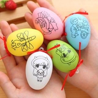 5 quả trứng in hình để tô màu (ko kèm bút màu)