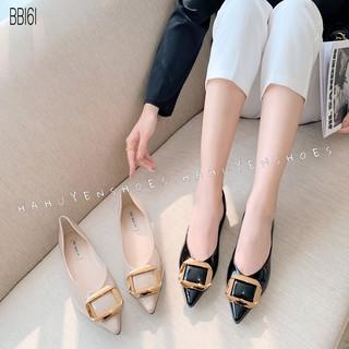 Bệt nữ HHS bóng khóa đồng chữ nhật Hà Huyền Shoes - BB161