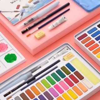 set 24 màu nước kèm cọ vẽ cho bé