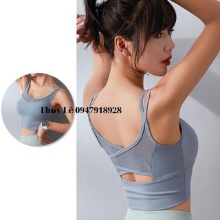 Áo bra thun lạnh chống sốc dây đôi SIÊU XINH, ôm body, tôn dáng, định hình vòng ngực