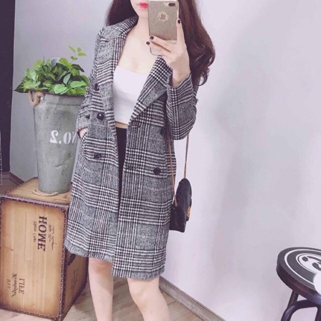 Áo Vest Sọc Hàn Quốc Ulzzang Thời Trang Áo Vest Dài Tay Form Rộng Siêu Xinh Chất Đẹp