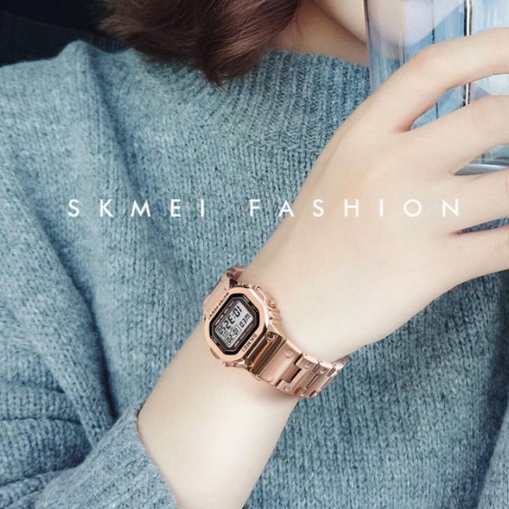 Đồng hồ thể thao nam nữ Skmei SKM02 chính hãng cao cấp, điện tử, đầy đủ chức năng, dây thép đúc, thời trang