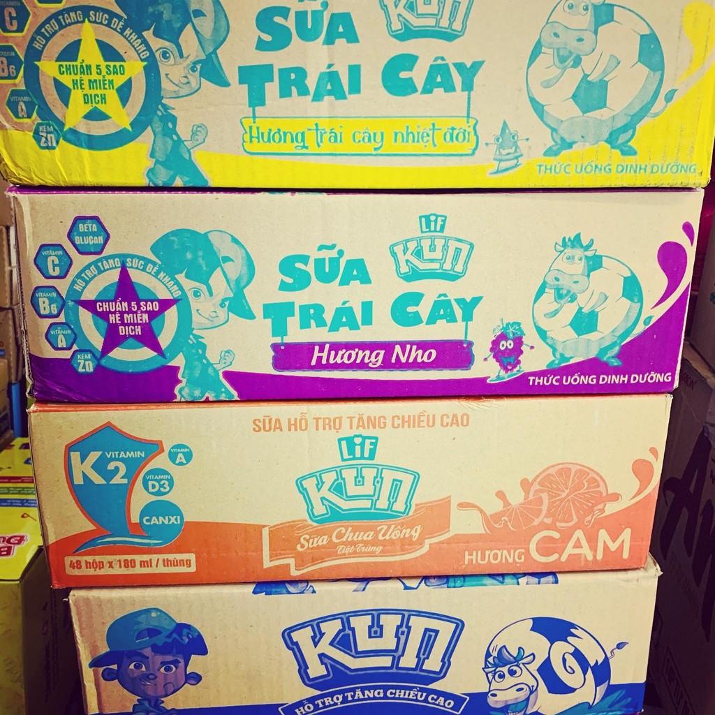 Thùng sữa Kun trái cây/sữa chua 48x180ml tại TP. Hồ Chí Minh