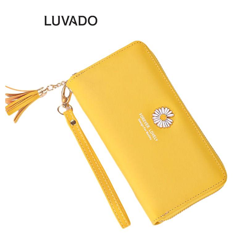Ví nữ cầm tay đẹp cao cấp MADLEY nhiều ngăn dáng dài đựng tiền LUVADO VD359