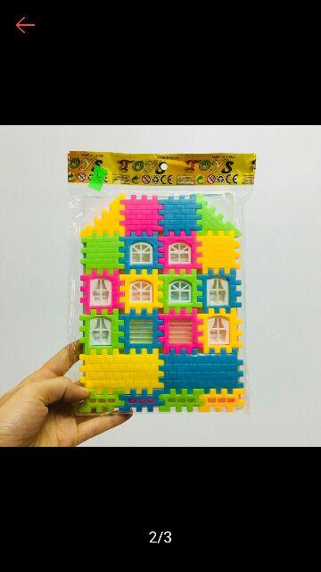 Combo 10 Bộ Xếp hình ngôi nhà cho bé. Hàng Đẹp, giá rẻ