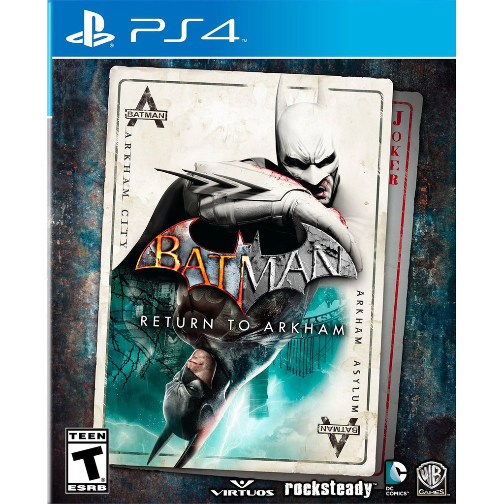 Đĩa game ps4 : Batman Return to Arkham