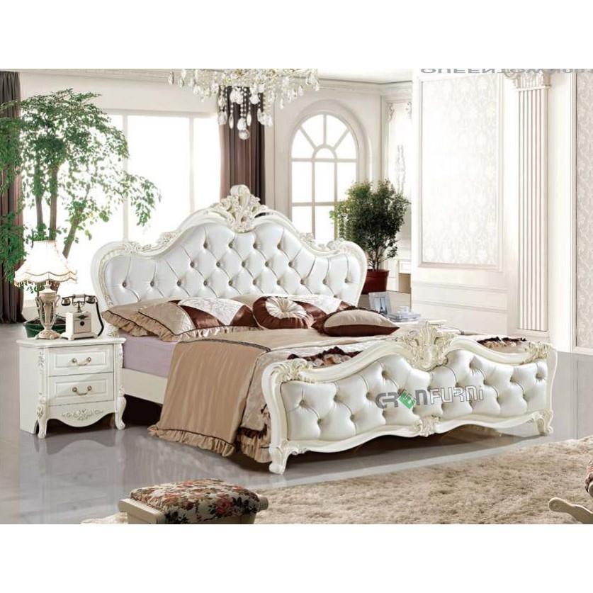 Set giường ngủ cổ điển nhập khẩu cao cấp giá rẻ nhất tại HCM GreenFurni QT-001 Nội thất phòng ngủ