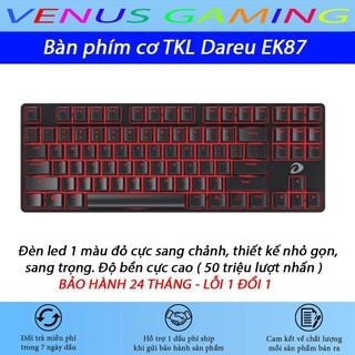 Bàn phím cơ Dareu EK87 - Mã cũ DK87 - Đèn led màu đỏ - Thay được keycap - Bảo hành 24 tháng - Lỗi 1 đổi 1 thumbnail