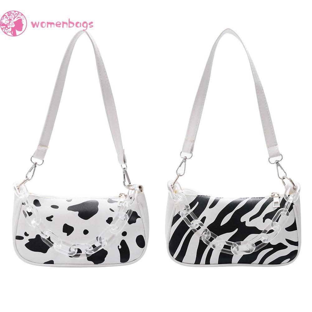 Túi đeo vai họa tiết động vật quai xách tay trong suốt thời trang cho nữ