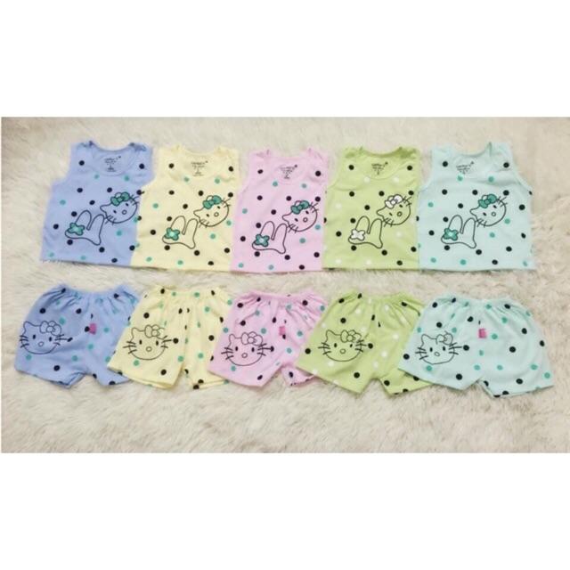 Bộ Ba Lỗ Hello Kitty Cho Bé Gái Từ Sơ Sinh tới