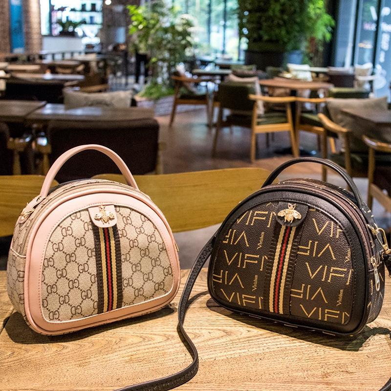 Túi đeo chéo Ailuner có quai xách kiểu bán nguyệt thời trang cho nữ