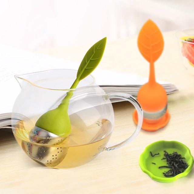 Lọc trà silicone chiếc lá
