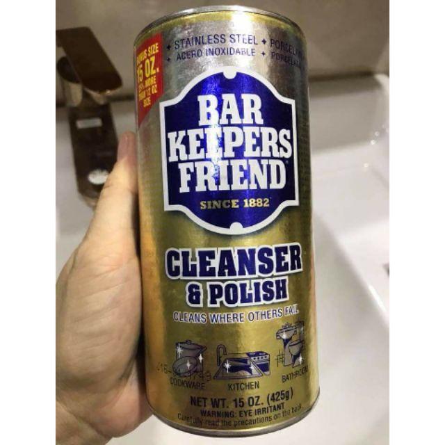Đánh bay vết cặn canxi trên vách tắm kính - Bột tảy đa năng Bar Keepers Friends - Nhập khẩu từ Mỹ