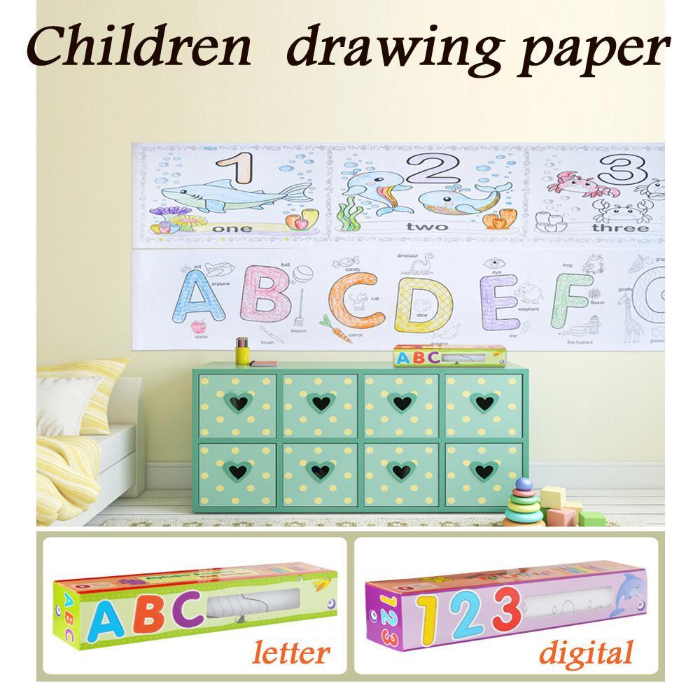 【COD】😺 Wonderful Drawing Paper Wallpaper Preschool Graffiti DIY Drawing Set