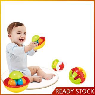 3pcs/set Baby Early Educational Toys Little Loud Jingle Ball Rattle Infant Baby Intelligence Toy