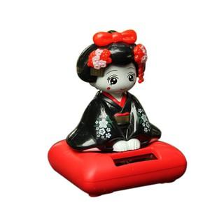 Solar Energy Powered Bobblehead Toy Figure Nohohon, Japanese Kimono Maiko Geisha