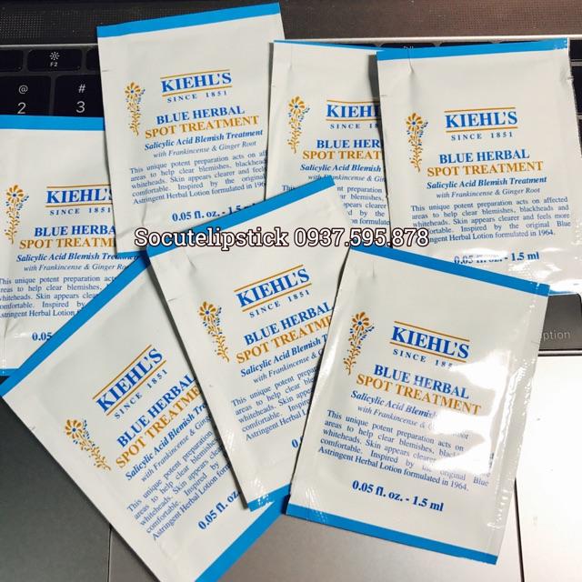 Gói Gel Trị Mụn Kiehls Blue Herbal Spot Treatment
